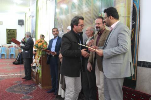 شركت معاون فرماندار در مراسم تجليل از خادمين و خيرين موكب الرضا (ع) شهرستان قائنات