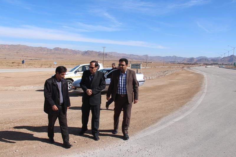 بازديد فرماندار قائنات از عمليات بهسازي ورودي روستاي اسفشاد
