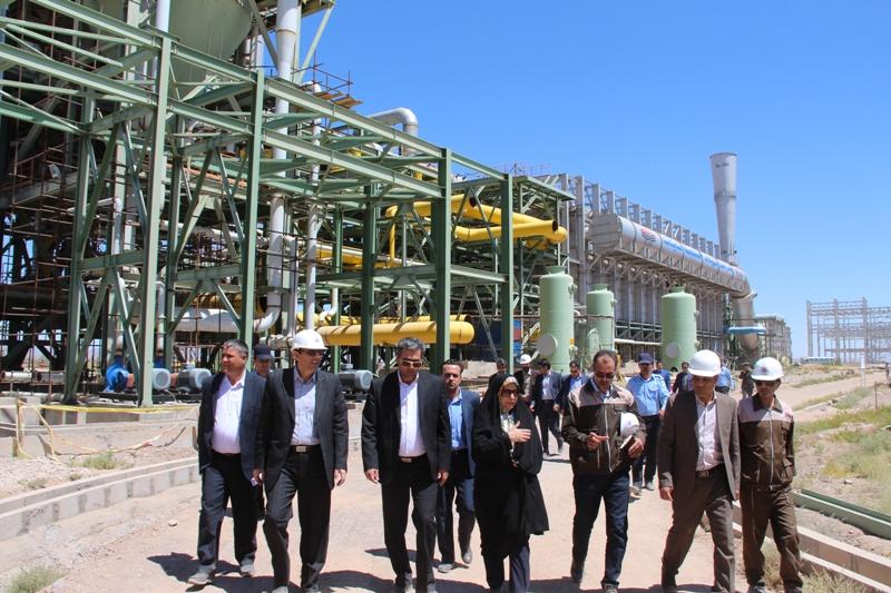 فرماندار قاينات به اتفاق معاون هماهنگي امور اقتصادي و توسعه منابع استانداري از پروژه فولاد قاين بازديد كرد